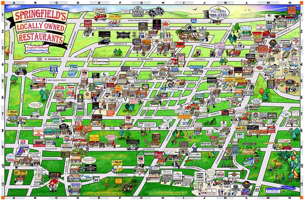 Image Gallery Springfield Map